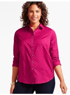 The Perfect Long-Sleeve Shirt-Dot Foulard