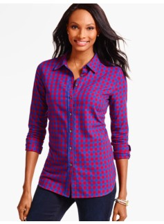 Gala Herringbone Plaid Shirt