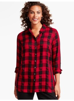 Scottie Dog Tartan-Plaid Shirt