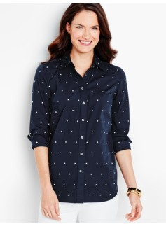 The Classic Casual Shirt-Embroidered Dots