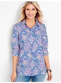 The Classic Casual Shirt-Medallion Tapestry