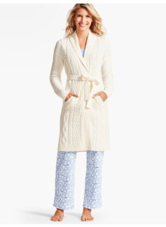 Mixed-Stitch Cable Robe