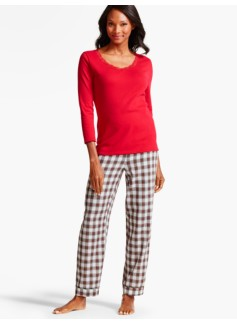 Mistletoe Plaid Pajama Set