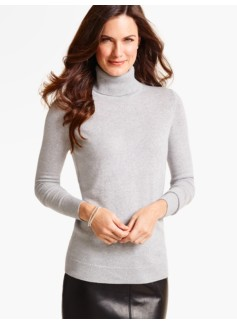 Cashmere Turtleneck-Metallic