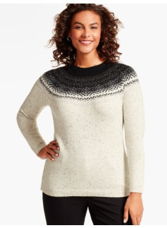 Glistening Fair Isle Sweater