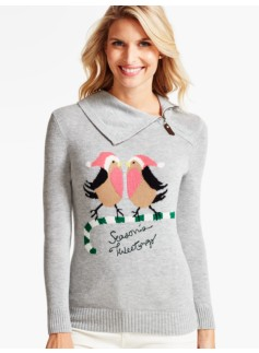 Holiday Birds Sweater