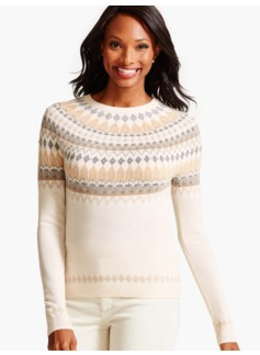 Cashmere Nordic Fair Isle Sweater