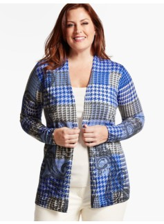 Plaid & Paisley Patchwork Cardigan