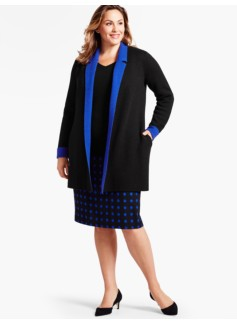 Double-Face Merino Cardi-Coat