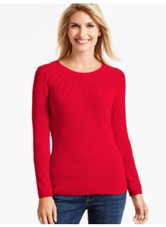 Cable-Yoke Sweater