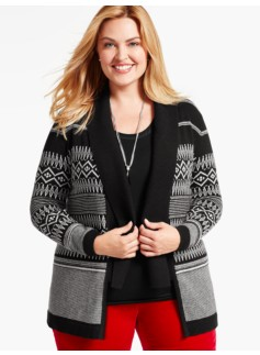 Northern Fair Isle Flyaway Cardigan