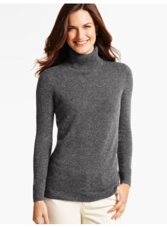 Cashmere Turtleneck-Donegal Tweed