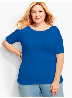 Weekend Ribbed Envelope-Bateau Tee