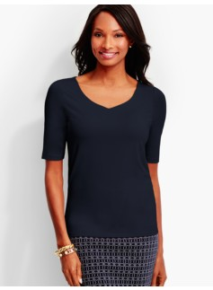 Refined V-Neck Top