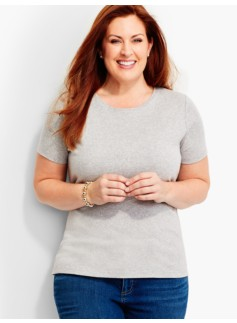 Short-Sleeve Crewneck -Ash Heather-The Talbots Tee