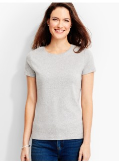 Short-Sleeve Crewneck Tee-Ash Heather-The Talbots Tee