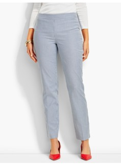 Talbots Chatham Ankle Pant-Curvy/Pinstripes