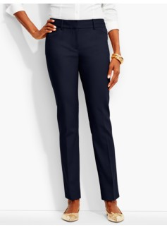 Talbots Hampshire Double-Weave Ankle Pant-Curvy Fit