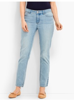 The Flawless Five-Pocket Ankle-Iceberg Blue Wash