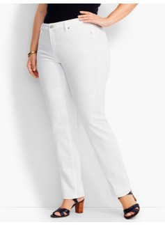 Flawless Five-Pocket Straight Leg - Talbots White