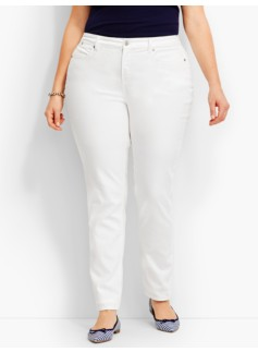 Flawless Five-Pocket Slim Ankle - Curvy/Talbots White