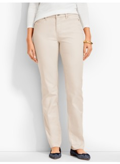 The Flawless Five-Pocket Straight Leg-Curvy /Neutrals