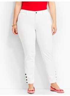The Flawless Five-Pocket Button-Ankle-White