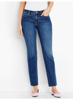The Flawless Five-Pocket Ankle-Curvy/Liberty Wash