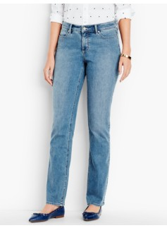 The Flawless Five-Pocket Straight-Leg-Curvy/Vintage Wash