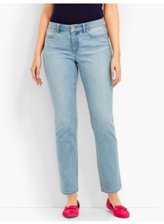 The Flawless Five-Pocket Ankle-Curvy/Iceberg Blue Wash
