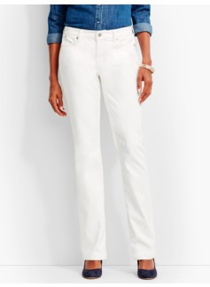 The Flawless Five-Pocket Bootcut-Curvy/White