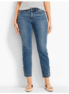 The Flawless Five-Pocket Button-Ankle Jean-Curvy/Clear Sailing Wash