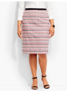 Sparkle Tweed Pencil Skirt