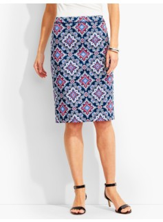 Regal Tile Pencil Skirt