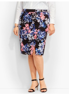 Flower Bouquet Pencil Skirt