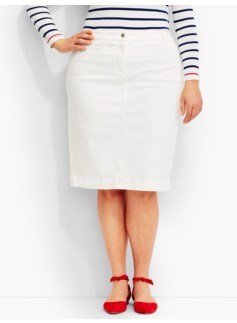 The Denim Pencil Skirt - White