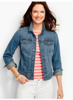 The Classic Denim Jacket-Bluebell Wash
