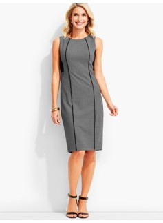 Stafford Dobby-Weave Colorblocked Sheath Dress