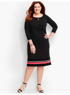 Bella Dots & Stripes Side-Drape Dress