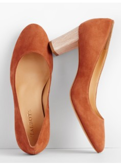 Ellery Block-Heel Pumps-Suede