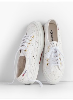 Superga® Sneakers-White Eyelet