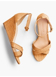 Vivian Crisscross-Strap Wedges