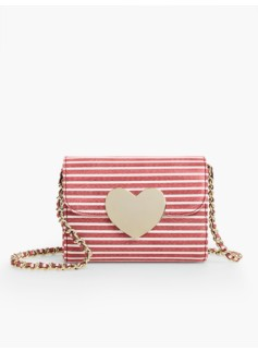 Heart-Flap Stripe Bag