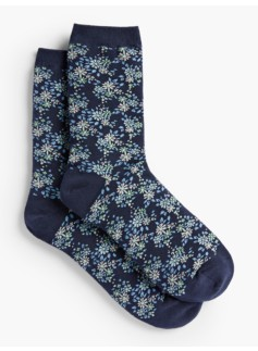 Allover Floral Trouser Socks