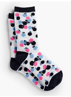 Overlapping Cherries Trouser Socks