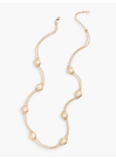 Long Texture Pearl Necklace
