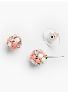 Tiny Cabochon Earrings