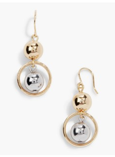 Ring & Bead Drop Earrings