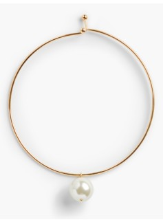 Pearl-Drop Collar Necklace