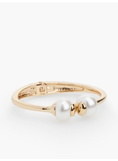 Double-Pearl Hinged Cuff